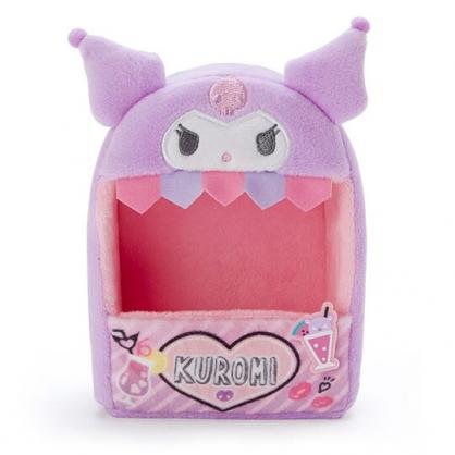 小禮堂 酷洛米 造型絨毛玩偶收納盒 玩偶展示盒 絨毛置物盒 (紫粉 熱帶沙灘)