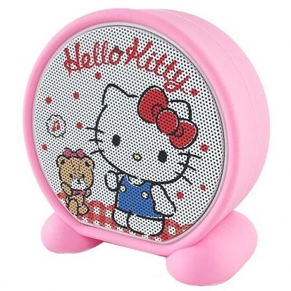 小禮堂 Hello Kitty 圓形無線藍牙喇叭 藍牙音響 藍牙音箱 (粉紅 小熊)