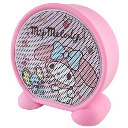 小禮堂 美樂蒂 圓形無線藍牙喇叭 藍牙音響 藍牙音箱 (粉 可麗餅)