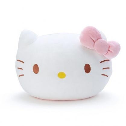 小禮堂 Hello Kitty 造型涼感抱枕 絨毛抱枕 涼感靠枕 (白 大臉)