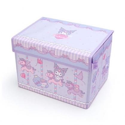 小禮堂 酷洛米 尼龍折疊掀蓋收納箱 玩具箱 小物收納箱 (紫 木馬)