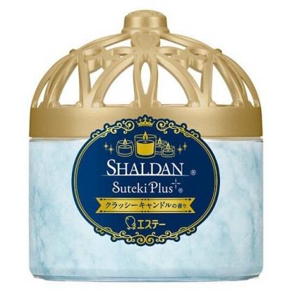 小禮堂 雞仔牌 日製 圓形室內芳香劑 芳香凝膠 除臭劑 蠟燭香 (藍雕花蓋)