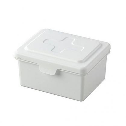 小禮堂 INOMATA 日製 方形塑膠掀蓋收納盒 抽取式紙巾盒 口罩盒 (白)