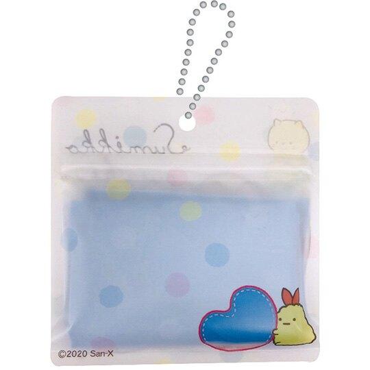 小禮堂 角落生物 折疊尼龍環保購物袋 環保袋 側背袋 附夾鏈袋 (藍白 玩偶)