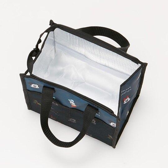 小禮堂 迪士尼 方形尼龍保冷便當袋 餐袋 手提野餐袋 (黃黑 大臉滿版)