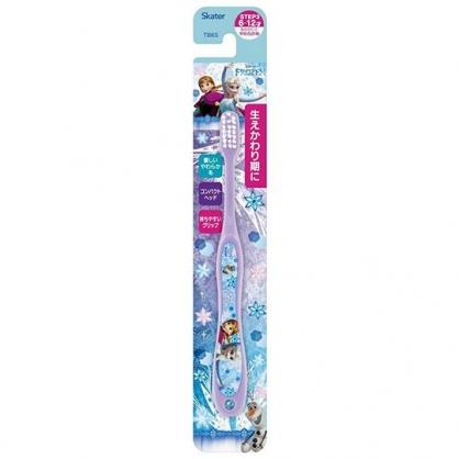 小禮堂 迪士尼 冰雪奇緣 兒童牙刷 學童牙刷 6-12歲適用 (紫 冰山)