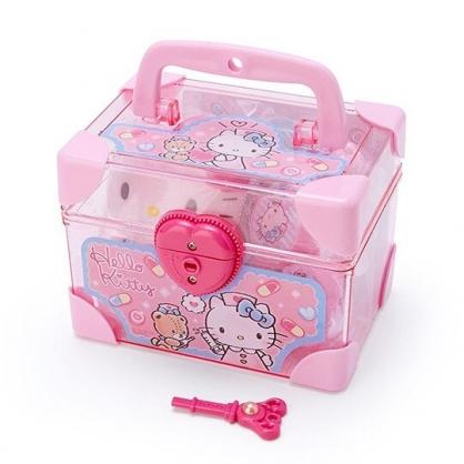 小禮堂 Hello Kitty 手提盒裝醫生玩具組 聽診器玩具 扮家家酒 (粉盒裝)