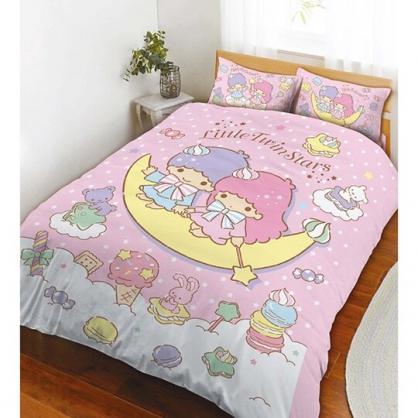 特價↘999 小禮堂 雙子星 單人兩用被 四季被 薄被 被套 5x6.5尺 (粉 月光童話)