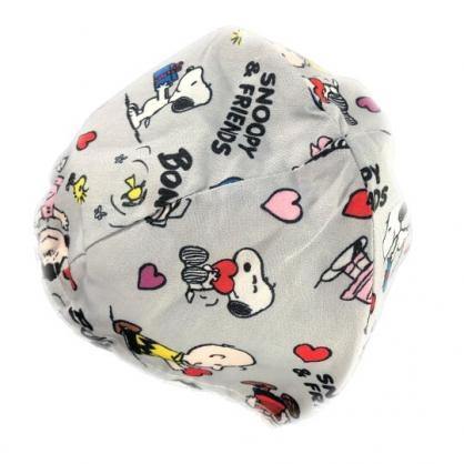 小禮堂 史努比 安全帽內襯 安全帽墊 帽套 (灰 朋友)