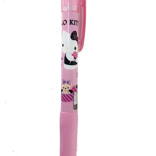 小禮堂 Hello Kitty 胖胖原子筆 藍筆 0.5mm (粉黑 玫瑰)