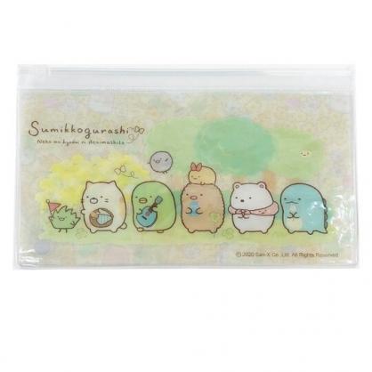 小禮堂 角落生物 橫式透明夾鏈袋 文具袋 萬用資料袋 (黃 森林)