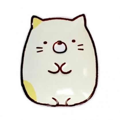 小禮堂 角落生物 貓咪 造型陶瓷盤 水果盤 點心盤 沙拉盤 (黃 坐姿)