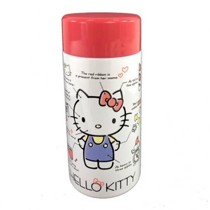 小禮堂 Hello Kitty 迷你旋轉蓋保溫瓶 兒童水壺 隨身水壺 200ml (紅白 角色分析)