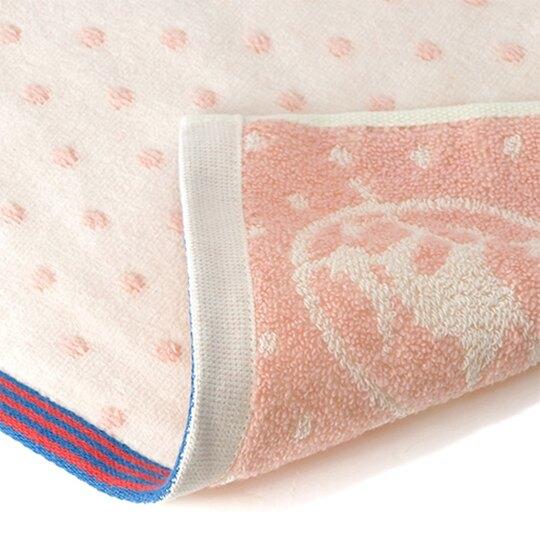 小禮堂 宮崎駿 魔女宅急便 純棉割絨短毛巾 純棉毛巾 方形毛巾 34x36cm (粉 物品)