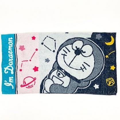 小禮堂 哆啦A夢 純棉無捻紗枕頭套 枕巾 枕套 34x64cm (深藍 睡覺)