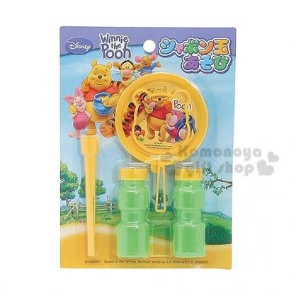 小禮堂 小熊維尼 日製吹泡泡玩具組《黃.站姿.朋友》適合3歲以上兒童