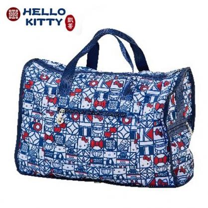 小禮堂 Hello Kitty x 故宮博物院 折疊行李拉桿包 手提旅行袋 側背行李袋