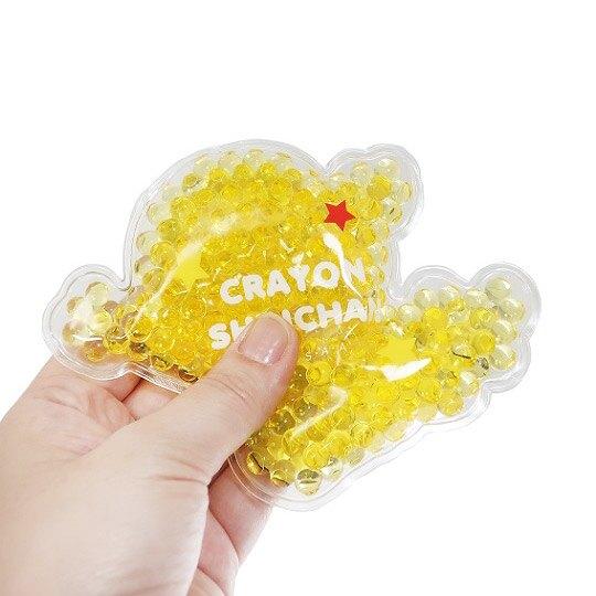 小禮堂 蠟筆小新 造型透明果凍顆粒保冷劑 保冰劑 冰敷袋 (黃紅 跳躍)