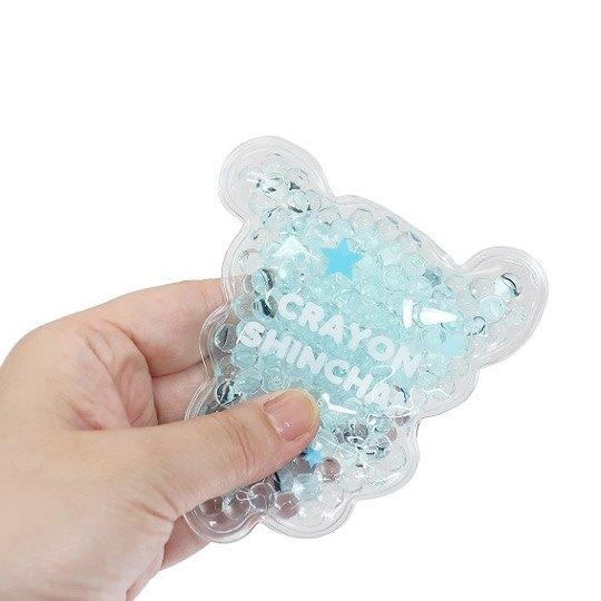 小禮堂 蠟筆小新 小白 造型透明果凍顆粒保冷劑 保冰劑 冰敷袋 (藍白 跳舞)