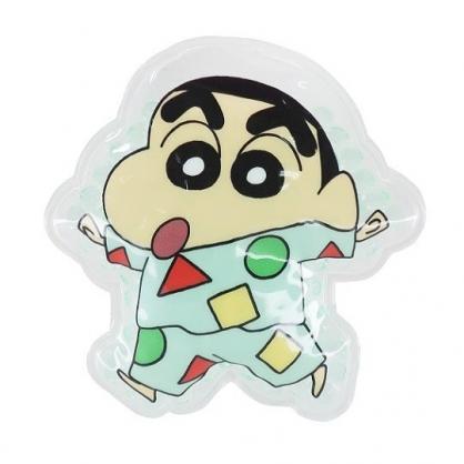 小禮堂 蠟筆小新 造型透明果凍顆粒保冷劑 保冰劑 冰敷袋 (綠 睡衣)