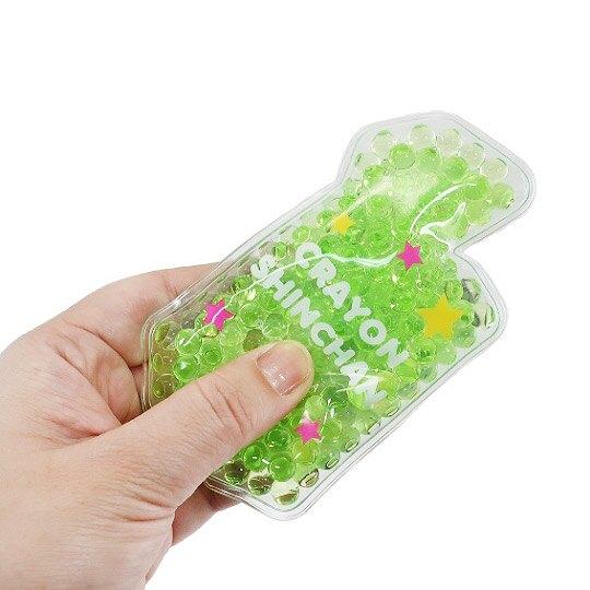 小禮堂 蠟筆小新 造型透明果凍顆粒保冷劑 保冰劑 冰敷袋 (綠桃 餅乾)