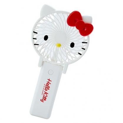 小禮堂 Hello Kitty 手持電風扇 隨身風扇 USB電風扇 桌扇 (紅白 大臉)
