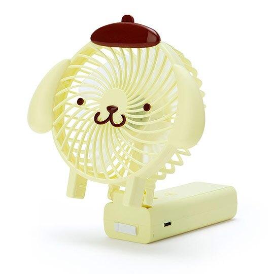 小禮堂 布丁狗 手持電風扇 隨身風扇 USB電風扇 桌扇 (黃棕 大臉)