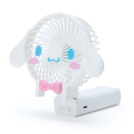 小禮堂 大耳狗 手持電風扇 隨身風扇 USB電風扇 桌扇 (藍白 大臉)