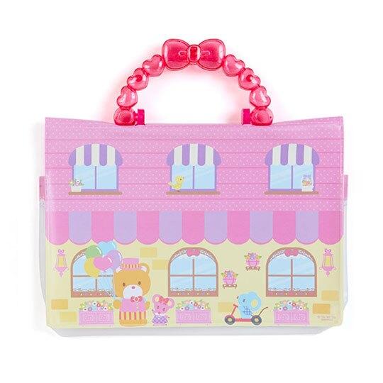 小禮堂 Hello Kitty 換裝貼紙附手提包 貼紙娃娃 泡棉貼紙 貼紙收集冊 (粉 便當)