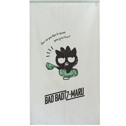 小禮堂 酷企鵝 日製 棉麻長門簾 窗簾 遮光簾 85x150cm (灰綠 滑板)