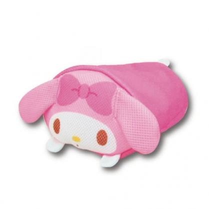 小禮堂 美樂蒂 圓筒型尼龍透氣抱枕 透氣靠枕 午睡枕 玩偶娃娃 (桃 大臉)