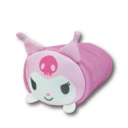 小禮堂 酷洛米 圓筒型尼龍透氣抱枕 透氣靠枕 午睡枕 玩偶娃娃 (紫 大臉)