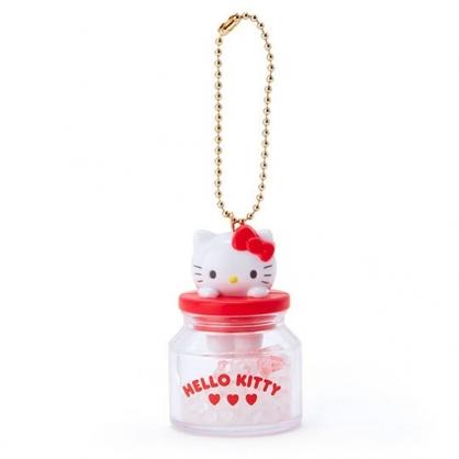 小禮堂 Hello Kitty 糖果罐造型香水珠吊飾 香氛鑰匙圈 香氛掛飾 (紅)