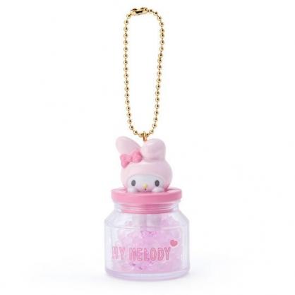 小禮堂 美樂蒂 糖果罐造型香水珠吊飾 香氛鑰匙圈 香氛掛飾 (粉)