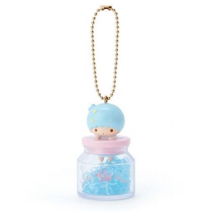 小禮堂 雙子星KIKI 糖果罐造型香水珠吊飾 香氛鑰匙圈 香氛掛飾 (藍)