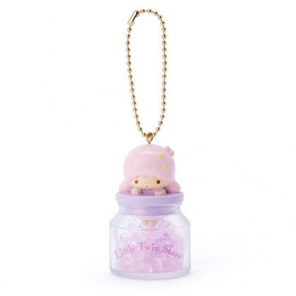 小禮堂 雙子星LALA 糖果罐造型香水珠吊飾 香氛鑰匙圈 香氛掛飾 (粉)