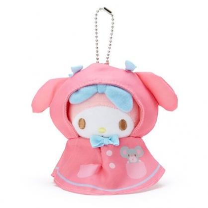 小禮堂 美樂蒂 晴天娃娃絨毛吊飾 玩偶吊飾 鑰匙圈 可連接 (粉藍)
