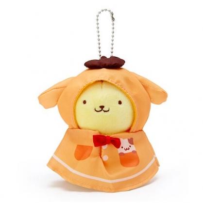 小禮堂 布丁狗 晴天娃娃絨毛吊飾 玩偶吊飾 鑰匙圈 可連接 (黃橘)