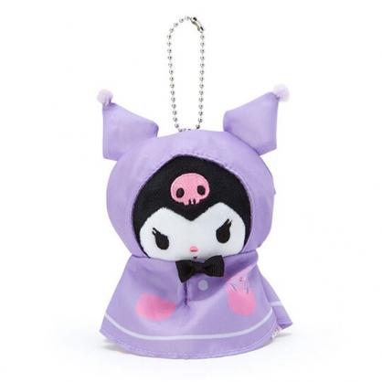 小禮堂 酷洛米 晴天娃娃絨毛吊飾 玩偶吊飾 鑰匙圈 可連接 (黑紫)