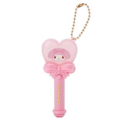 小禮堂 美樂蒂 愛心權杖造型LED鑰匙圈 LED掛飾 發光吊飾 玩偶配件 (粉)