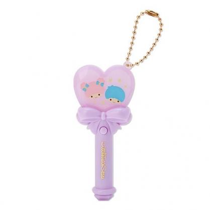 小禮堂 雙子星 愛心權杖造型LED鑰匙圈 LED掛飾 發光吊飾 玩偶配件 (紫)