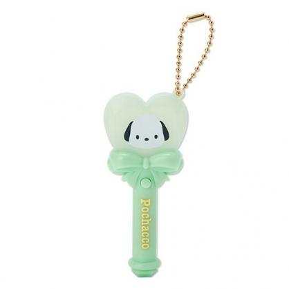 小禮堂 帕恰狗 愛心權杖造型LED鑰匙圈 LED掛飾 發光吊飾 玩偶配件 (綠)