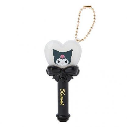 小禮堂 酷洛米 愛心權杖造型LED鑰匙圈 LED掛飾 發光吊飾 玩偶配件 (黑)