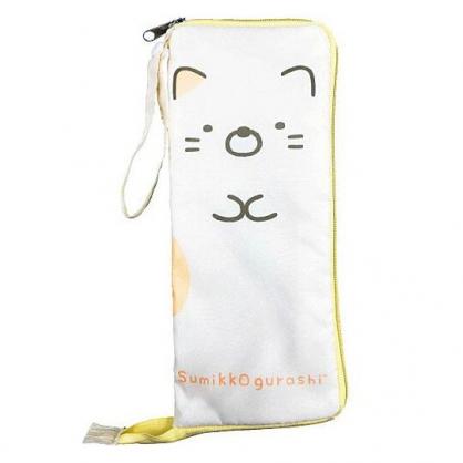 小禮堂 角落生物 貓咪 尼龍吸水速乾折傘套 雨傘收納袋 傘袋 水壺袋 (黃 全身)