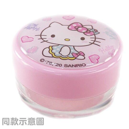 小禮堂 Hello Kitty 圓形塑膠乳液盒組 旅行空盒 透明分裝盒 10g (2入 粉 貝殼)