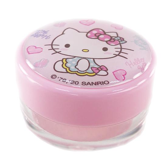 小禮堂 Hello Kitty 圓形塑膠乳液盒組 旅行空盒 透明分裝盒 10g (2入 粉 愛心)