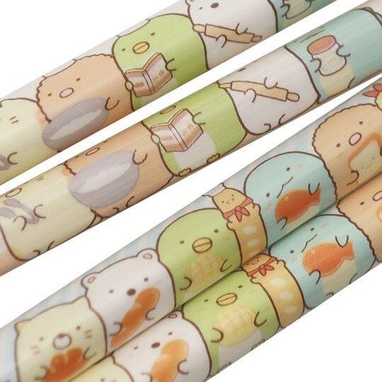 小禮堂 角落生物 木筷組 竹筷 環保筷 21cm (2入 棕藍 麵包)