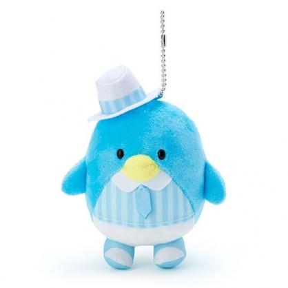 小禮堂 山姆企鵝 絨毛吊飾 玩偶吊飾 鑰匙圈 (藍 俏皮偵探)