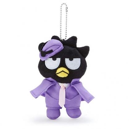 小禮堂 酷企鵝 絨毛吊飾 玩偶吊飾 鑰匙圈 (紫 俏皮偵探)