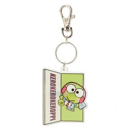 小禮堂 大眼蛙 造型壓克力鑰匙圈 塑膠吊飾 掛飾 (綠 俏皮偵探)